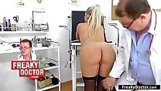 Gyno-chair exam of small lalin non-professional wife ferrara gomez