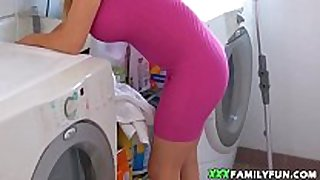 Quickie with hot blonde stepmom