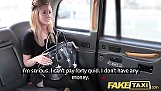 Fake taxi small blonde in pull up nylons