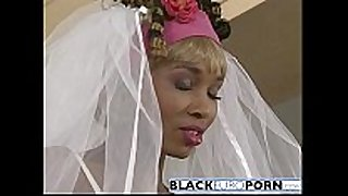 Ebony bride acquires pounded by superlatively precious man white ding-dong