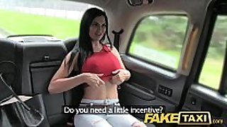 Fake taxi sexy and sex in constricted jeans