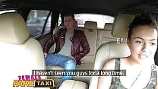 Femalefaketaxi sexy cabbie desires to acquire drilled
