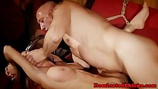 Submissive chick screwed and jizzed on bigtits