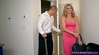 Awesome blonde milf cory pursue doing anal with ...