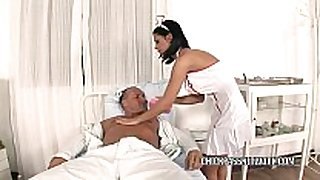 Slutty nurse dark angelika fucks in the hospit...