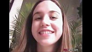 Amateur juvenile legal age teenager shows bushy cum-hole live at w...