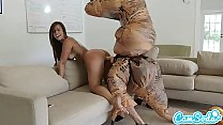 Big booty latin babe legal age teenager chased by lesbo loving tr...