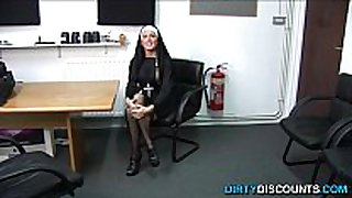 Real brit nun punishing hard knob