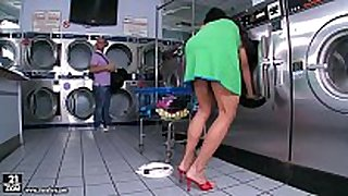 Jewels jade receives screwed in the laundry