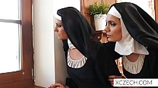 Beautiful nuns enjoying sex