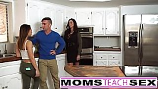 Mother bonks son and diminutive latin babe girlfriend