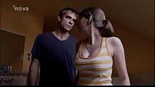 Daddy spanks daughter scene