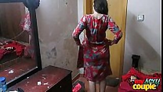 Indian cheating horny girl sonia in shalwar suir undresses stripped ...