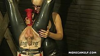 Kinky norwegian monicamilf is pegging the ribald...