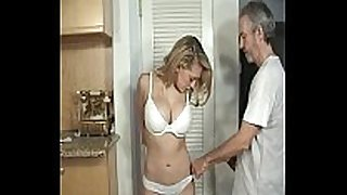 Door to door non-professional BBC floozy tied and gagged part 1