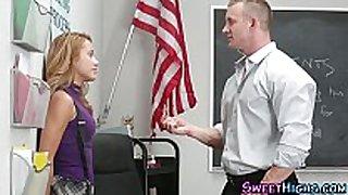 Schoolgirl copulates teacher