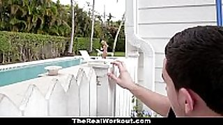 Therealworkout - lewd black wang bitches bonks the pool...
