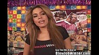 Runway model black porn star blows fan!