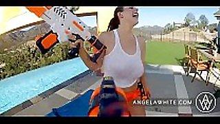 Angela white and dani daniels fucking outside