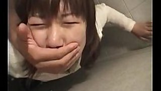 Jap teeny grabbed and nailed hard in her moist crack i...