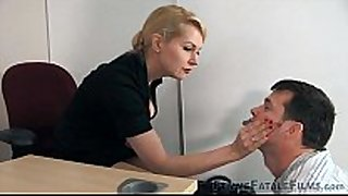 My hot boss is a secret mistresse and mean bit...