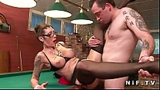 Big boobed french mature with tattoo's gets banged