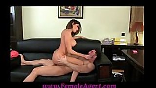 Femaleagent huge sperm flow across marvellous milk sacks