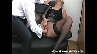 Amateur golden-haired fetish fist fisting fistfuck puss...