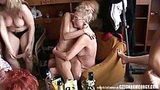Hardcore aged home orgy