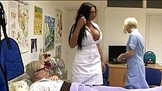 Sexy cfnm nurses give oral-sex