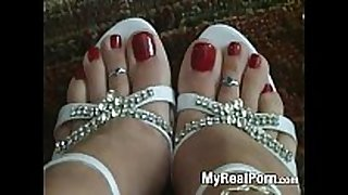 Foot feet sexy legs shoes red nail polish