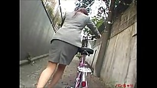 Bicycle office cheating slutty wife