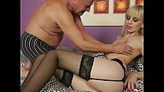 Grandpa fucking young blond BBC doxy