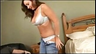 Husband and dilettante hotwife sucks fucks and eats in the be...