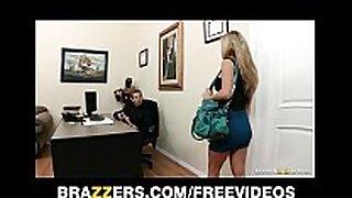 Busty black brown secretary kiera king seduces her...