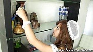 Exxxtrasmall miniature housemaid bald love tunnel hard...
