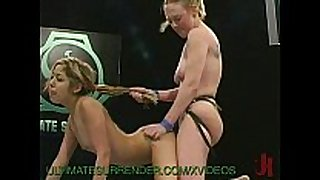 Female wrestler fucks the loser