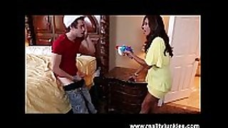Francesca le catches him sniffing her panties!