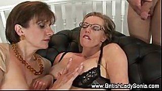 Mature british femdom ffm 3some facial