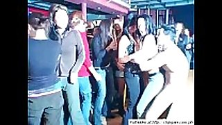 Sweet hotties dancing on party