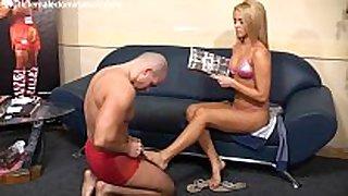 Aleska diamond with her servant dude