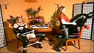 Mistress fucks heer male and female slaves majority astonishing...