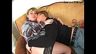 Fat mother fucked hard by youthful