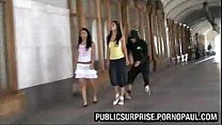 Girls scones exposed in public