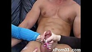 Multiple handjobs and facual cumshots