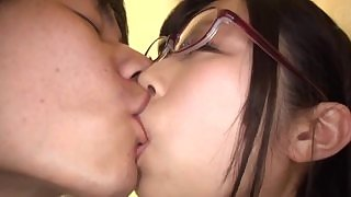 Japanese Asian AV idol Katou Honoka fuck in glasses
