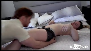 Curious couple invites another stud into a threesome