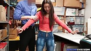Latina legal age teenager fucked for stealing