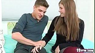 Hot student seducing to make sex